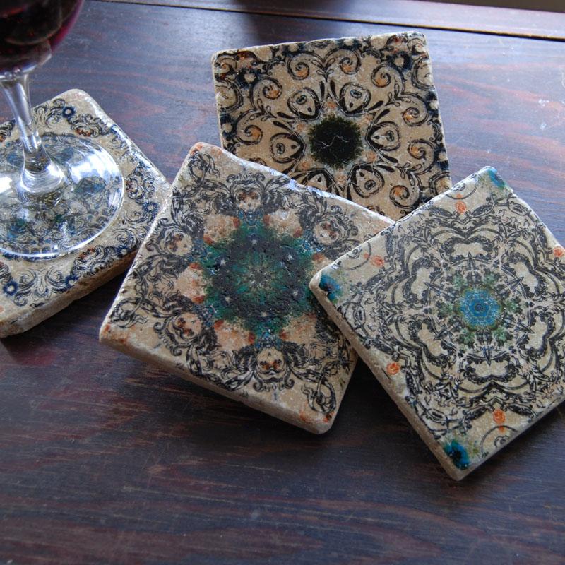 Venetian Escape stone coasters