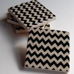 Black Chevron coasters