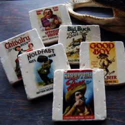 Vintage Beer Lable stone coasters